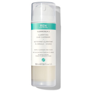 REN Clearcalm 3 Clarifying Clay Cleanser (150ml)