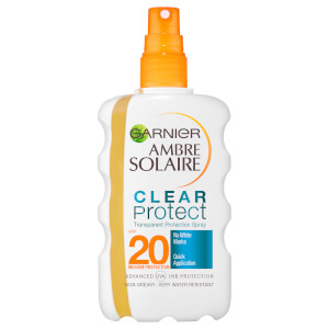 Protector solar en spray Clear Spray SPF20 de Garnier Ambre Solaire (200 ml)