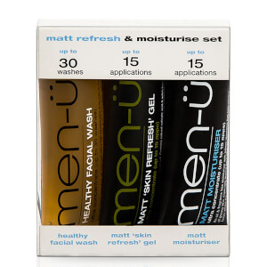 men-ü Matt Refresh & Moisturise Set – 15 ml (3 produkter)