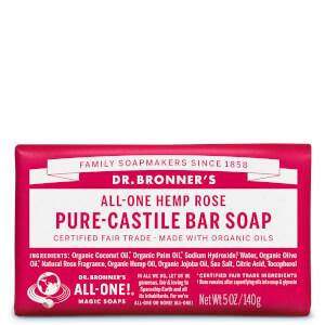 Dr Bronner's Pure Castile Bar Soap Rose 140g