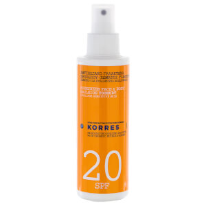 Émulsion Solaire Yoghurt Sunscreen Face and Body  FPS20 (150ml) KORRES