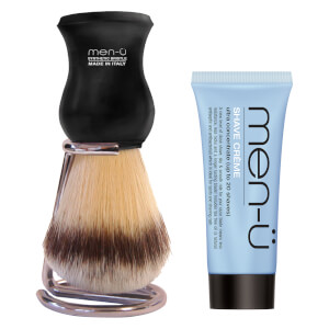 men-ü DB Premier Shave Brush mit Chromständer - Black