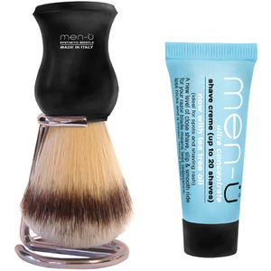 Men-ü DB Premier Shave Brush avec Support en Chrome- Noir