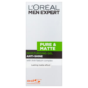 L'Oréal Men Expert Pure & Matte Anti-Shine Moisturising Gel -kosteusgeeli (50ml)