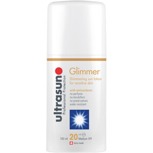 Ultrasun Glimmer SPF20 - Sensitive Formula (3oz)