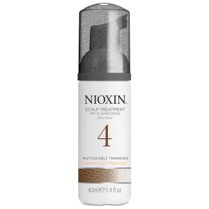 NIOXIN System 4 Scalp and Hair Treatment with Sunscreen for Fine, Noticeably Thinning, Chemically Treated Hair (3 oz)