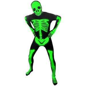 Morphsuit Adulte Squelette Phosphorescent - Noir