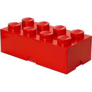 LEGO Aufbewahrungsstein 8 - Rot