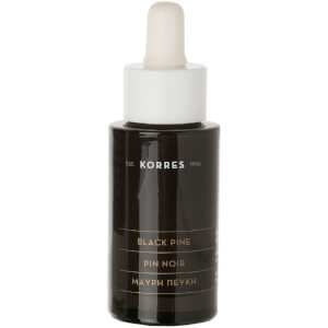 KORRES Black Pine Anti-Wrinkle and Firming Face Serum Bottle and Dropper (30 ml)