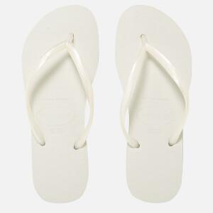 Havaianas Women's Slim Flips Flops - White