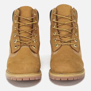 Timberland Women's 6 Inch Premium Leather Boots - Wheat: Image 6