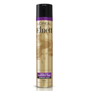 L'Oréal Paris Hairspray by Elnett Care For Dry Damaged Hair Strong Hold Argan Oil Shine 200ml
