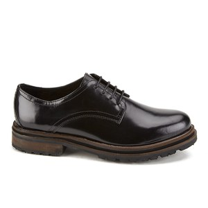H Shoes by Hudson Women's Hollin High Shine Lace Up Shoes - Black