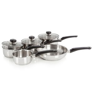 Morphy Richards 970002 5 Piece Pan Set - Stainless Steel