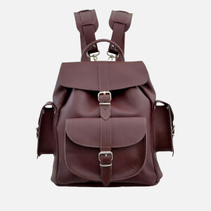 Grafea Women's Wine Medium Leather Backpack - Burgundy