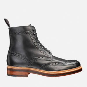 Grenson Men's Fred Brogue Boots - Black