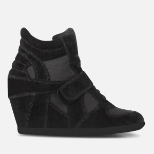 Ash Women's Bowie Suede Wedged Trainers - Black