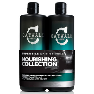 TIGI Catwalk Oatmeal and Honey Tween Duo -shampoo ja hoitoaine, 2 x 750ml