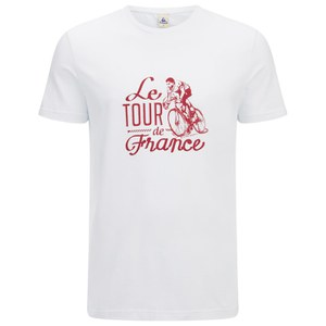 Le Coq Sportif Tour de France N10 Short Sleeved T-Shirt - White