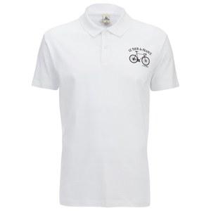 Le Coq Sportif Tour de France N3 Short Sleeved Polo Shirt - White