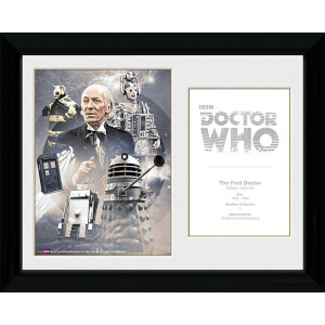 Doctor Who 1st Doctor William Hartnell - 30 x 40cm Collector Prints
