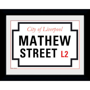 "Mathew Street - 8"""" x 6"""" Framed Photographic"