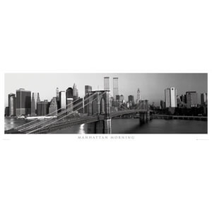 New York Manhattan Morning - Door Poster - 53 x 158cm