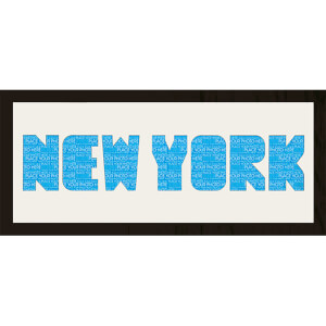 GB Cream Mount New York Photo Font - Framed Mount - 12