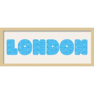 GB Cream Mount London Fatty Font - Framed Mount - 12