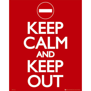 Keep Calm Keep Out - Mini Poster - 40 x 50cm