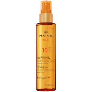 NUXE Sun Tanning Oil Face og Body SPF 10 (150 ml) - Exclusive