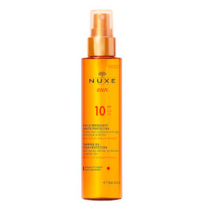 NUXE Sun Tanning Oil Face and Body SPF 10 (150ml) - Exclusive