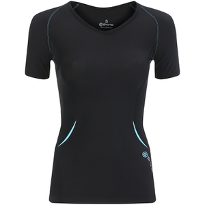Skins Women's Coldblack Short Sleeve Top - Black/Blue