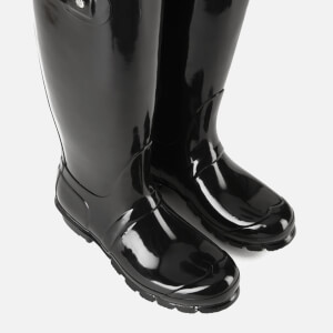 Hunter Women's Original Tall Gloss Wellies - Black: Image 5