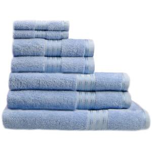 Restmor 100% Ägyptische Baumwolle 7 Stück Premium Handtuchset - Kobaltblau