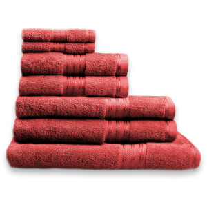 Restmor 100% Ägyptische Baumwolle 7 Stück Premium Handtuchset - Rot