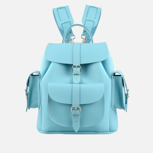 Grafea Sky Medium Leather Rucksack - Sky Blue