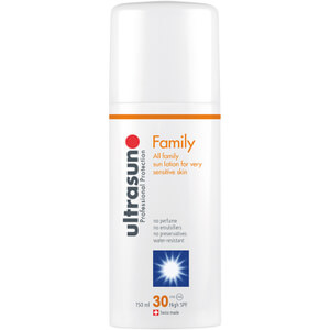 Ultrasun Family SPF 30 - Super Sensitive (150 ml) og Ultrasun Aftersun
