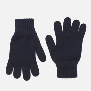Barbour Lambswool Gloves - Navy