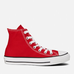 Converse Unisex Chuck Taylor All Star Canvas Hi-Top Trainers - Red