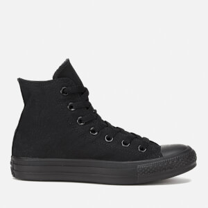 Converse All Star Canvas Hi-Top Trainers - Black Monochrome