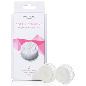 Magnitone London Soft and Sensitive Replacement Brush Head with SkinKind™ Bristles (Set of 2)