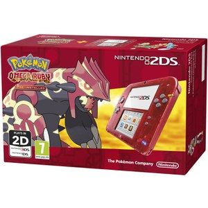 Nintendo 2DS Transparent Red + Pokémon Omega Ruby: Image 2