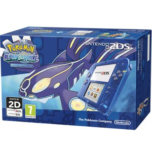 Nintendo 2DS Transparent Blue + Pokémon Alpha Sapphire: Image 2