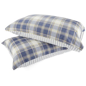 Catherine Lansfield Tartan Housewife Pillowcase - Pair - Navy