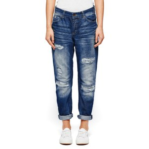 Maison Scotch Women's L'Adorable Distressed Sky Boyfriend Jeans - Indigo