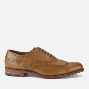 Grenson Men's Dylan Leather Wingtip Brogues - Tan