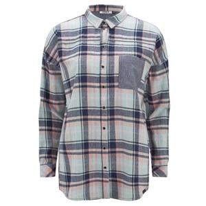 ONLY Women's Sade Check Shirt - Cool Blue