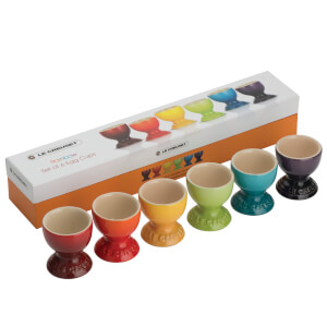 Le Creuset Stoneware Rainbow Egg Cups (Set of 6) - Multi