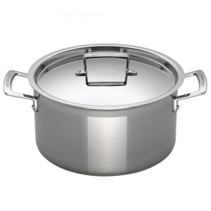 Le Creuset 3-Ply Stainless Steel Deep Casserole Dish - 24cm